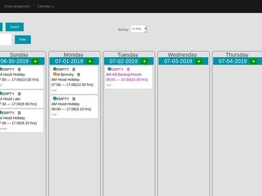 Scheduler for driver