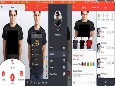 TShirt Design App