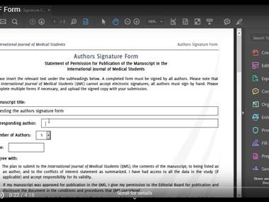 Dynamic PDF Form for IJMS