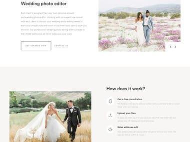 Wedding photo editor ( Simple wordpress site )