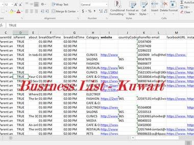 Business List - Kuwait