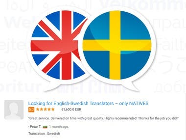 English to Swedish Translation