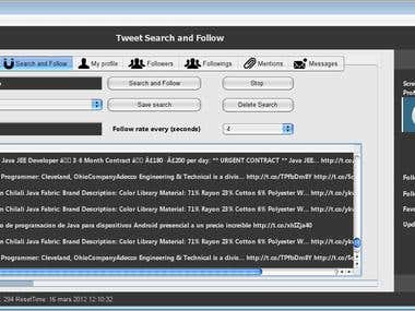 Java Twitter App