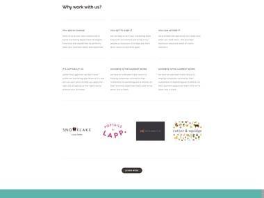 Squares Space website
