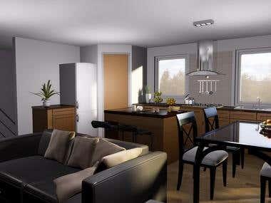 Interiors designs for Randy Bett, Canada