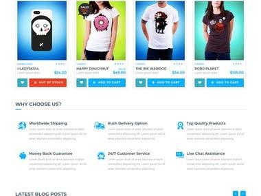 Custom Cloth eCommerce