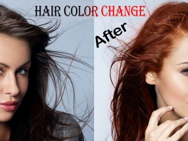 HAIR COLOR CHANGE