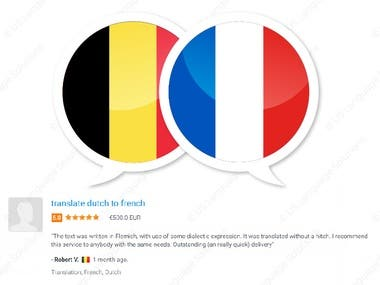 Dutch -- Flemish to French Translation