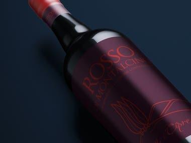 New label design Rosso di Montalcino