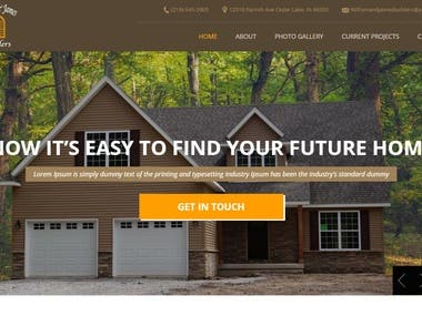 Home construction website