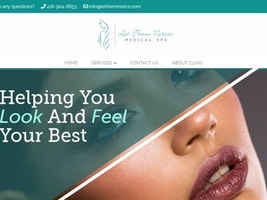 Botox Treatment website