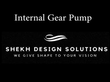 Internal Gear Pump 3D Model render & Animation