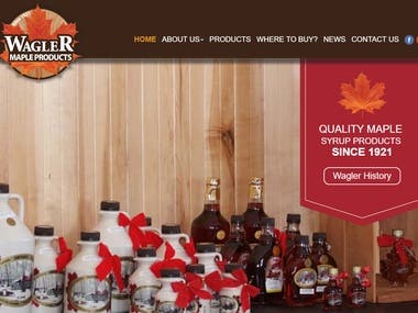 Maple products website .