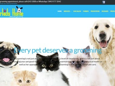Fur Kids Home website