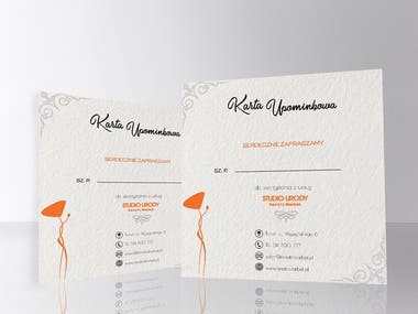 Gift Card Design and Mockup || ♥
