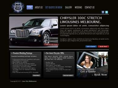 Design homepage of Limo Rented website
