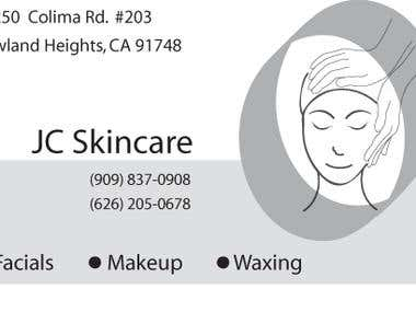 JC Skincare Business Card