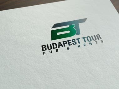 Logo design for Budapest Tour Hub & Rents.