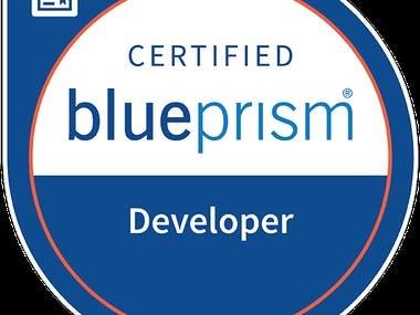 Blue Prism Certified Developer