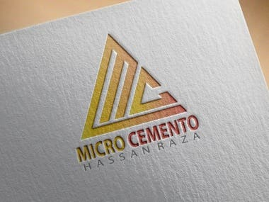 Logo design for micro cemento.