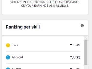 Top 10% Ranking Freelancer