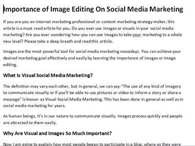 Content Writing sample
