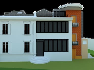 House Design/ 3d house modeling using 2d file