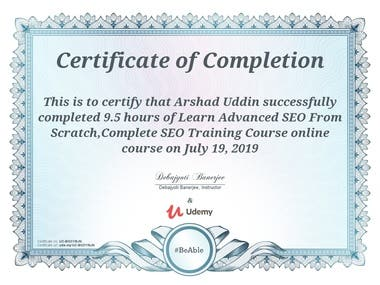 My Certificate of SEO