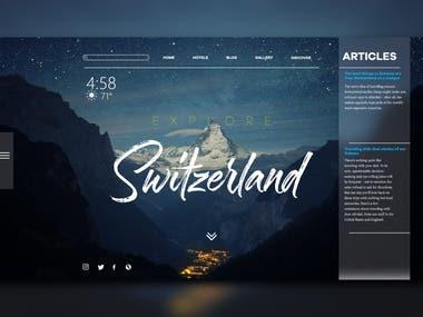 SWITZERLAND travel website layout design