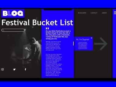BLOG blog website landing page design