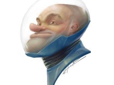 Spaceman Character Portrait