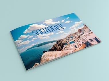 Bi fold landscape travel brochure