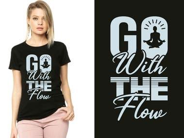 YOGA t-shirt design