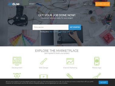Job Site for Freelancers, Pyhton + Vue2.0 + Vuex