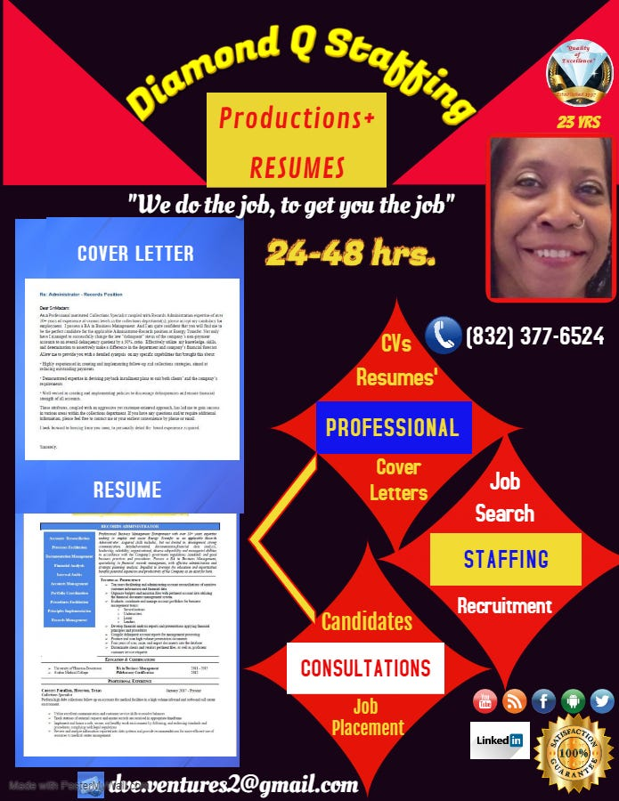 Professional Resume Staffing Flyer Design Freelancer