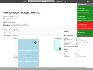 Web App for Windows Design, Node.js + Backbone + Fabric.js