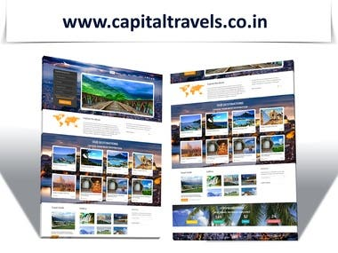 Website for Travel Agency Capital Travels