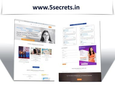 5secrets.com website for Financial Literacy Company