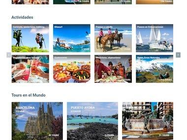 Diseño de pagina web de turismo en php
