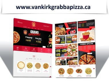 Online Customize Pizza Ordering Website.