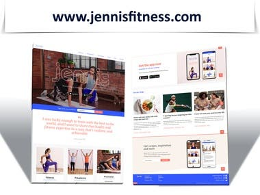 Fitness, Training and Motivational Website