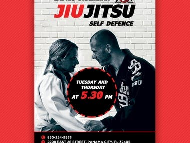 JIU JITSU Flyer Design