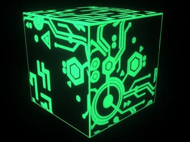 High tech cube