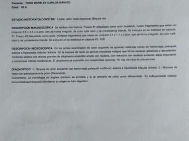 Translation of medical report