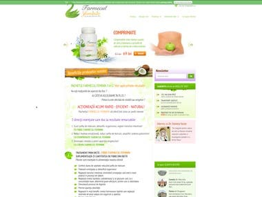 A highly successful e-commerce site for selling weight loss