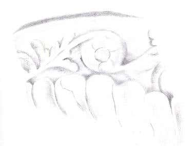 Drawing: Section of a Ceramic Piece