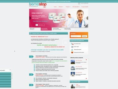E-commerce website for selling haemorrhoids relief products