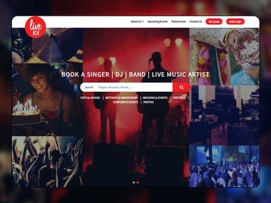 Entertainment Event Management Company Android App