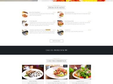 Pizza web site