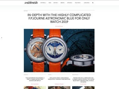 Social media platform for lovers of watches